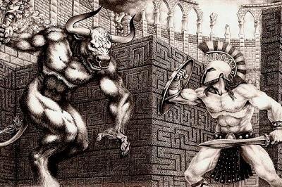 Teseo y el Minotauro Mitologia