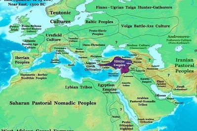 Mapa Imperio Hitita