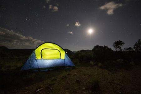 Haciendo camping del modo tradicional