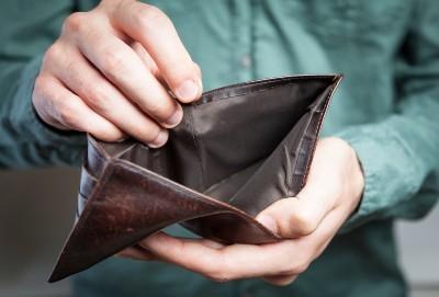 cartera sin ahorro