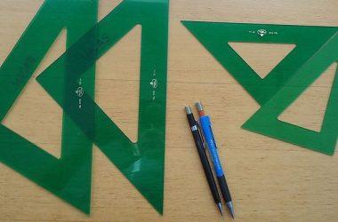 Uso correcto de escuadra y cartabón para hacer ángulos